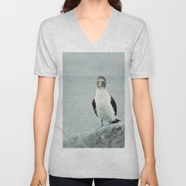 blue-footed booby Unisex V-Neck