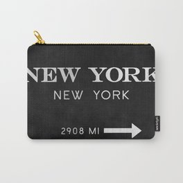 black watercolor new york new york Carry-All Pouch