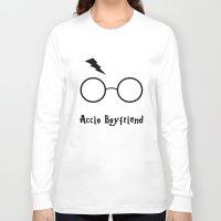 boyfriend Long Sleeve T-shirts featuring Accio Boyfriend by Vortha
