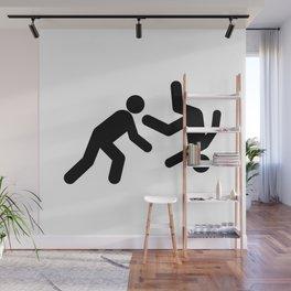 Stickman Throw Wall Mural