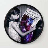 houston Wall Clocks featuring Houston  by Saturos