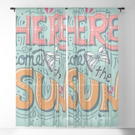 Here Comes The Sun 001 Sheer Curtain
