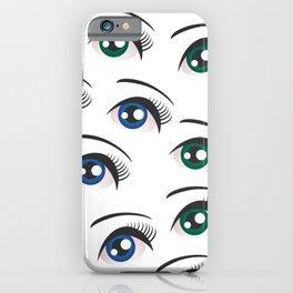 Eyes on white iPhone Case