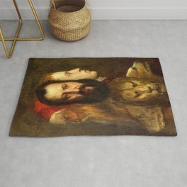 Titian The Allegory of Prudence Rug