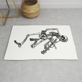 Skeleton Playing Violin Rug