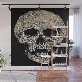 Full Skull With Rotting Flesh Vector Wall Mural