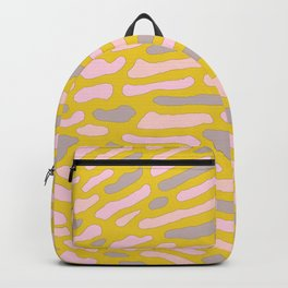 Organic Abstract Yellow Lime Backpack