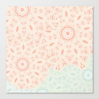 lace Canvas Prints featuring Lace by LindsayMichelle