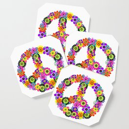 Peace Sign of Flowers Coaster