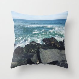 Jersey Shore Jetty Throw Pillow