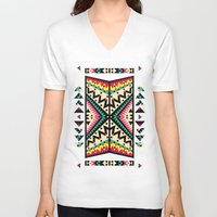 tribal V-neck T-shirts featuring Tribal by Ornaart