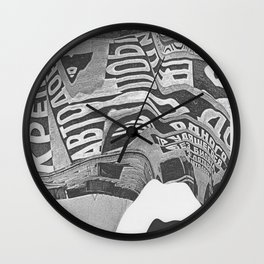 Constructivism Scan Wall Clock
