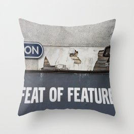 Feat of Features Vancouver Throw Pillow