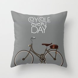 Cycle Every Day, Throw Pillow