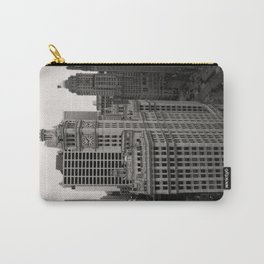 Wrigley Building Chicago Black and White Photo Carry-All Pouch
