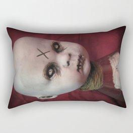 Creepy Gothic Zombie Baby Doll  Rectangular Pillow