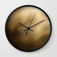 ombre Wall Clocks featuring OMBRE by Luigi Riccardi