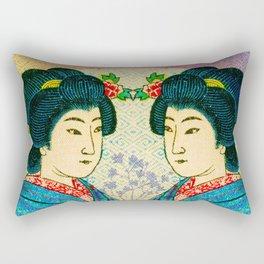 2 Geishas Rectangular Pillow