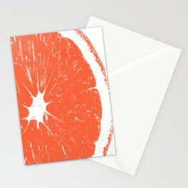 Orange Block Print Stationery Cards