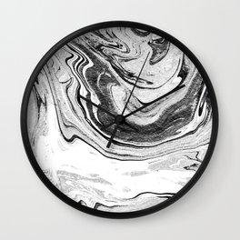 Marble Suminagashi 4 watercolor pattern art pisces water wave ocean minimal design Wall Clock