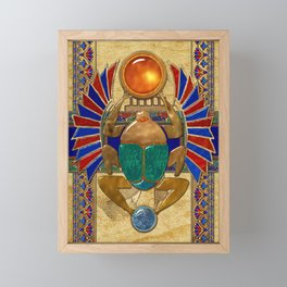 Sarcophagus 3d Egyptian Folk Art Framed Mini Art Print
