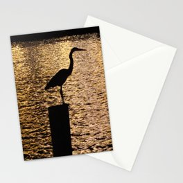 Heron Silouette Stationery Cards