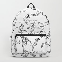 Dinosaurs in W & B Backpack