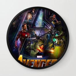 Infinity War Poster Wall Clock