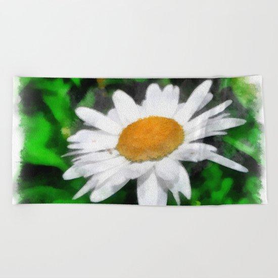 flower Beach Towel