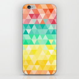 Rainbow triangles iPhone Skin