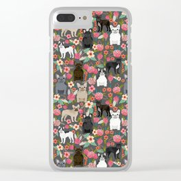 French Bulldog must have florals gifts dog breed pet lover frenchies forever Clear iPhone Case