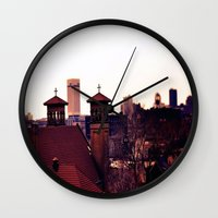 religion Wall Clocks featuring Cleveland Religion by Toni Tylicki