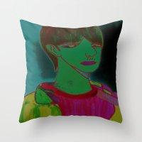 sam smith Throw Pillows featuring Sam by Latidra Washington