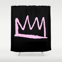 crown Shower Curtains featuring Crown by schillustration