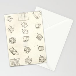 Geometric Crystals Diagram Stationery Cards