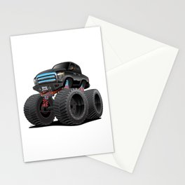 Monster Pickup Truck Cartoon Stationery Cards