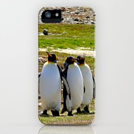 Marching King Penguins iPhone Case