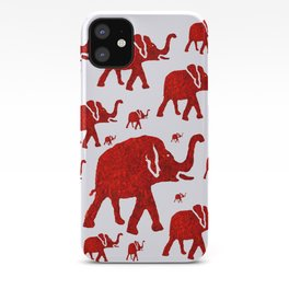 ELEPHANT Red #1 iPhone Case