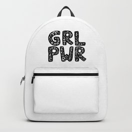 GRL PWR Girl Power Typography Art Backpack