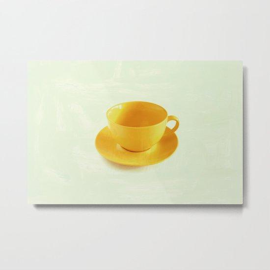 Yellow Cup Metal Print