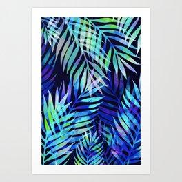 Watercolor palm pattern Art Print