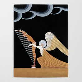 "Art Deco Design ""The Angel"" Poster"