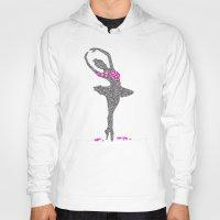 ballerina Hoodies featuring BALLERINA by Grazemee