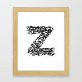 The Illustrated Z Framed Art Print