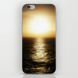 Calais ocean sunset, bloom. iPhone Skin