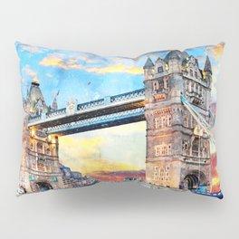 tower-bridge-thames-river-historic Pillow Sham