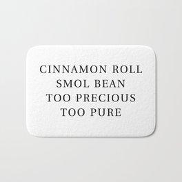 Precious Cinnamon Roll White Bath Mat