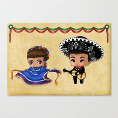 Mexican Chibis Canvas Print