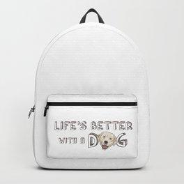 Life's Better With A Dog Labrador Retriever Backpack