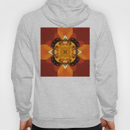 Abstract Design 92 - Orange Hoody